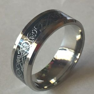 Sz 11 Stainless Steel Nordic Style Ring/Band